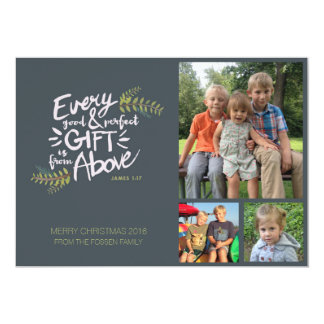 Gifts from Above Religious Christmas Photo Card