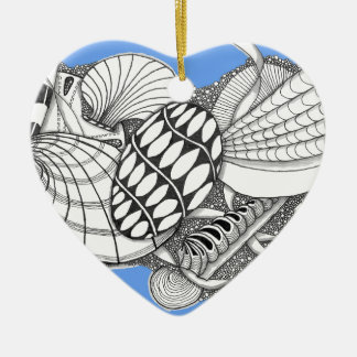 Gifts from the Sea Zentangle Style Christmas Tree Ornament