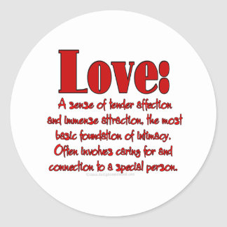 Gifts Of Love Classic Round Sticker
