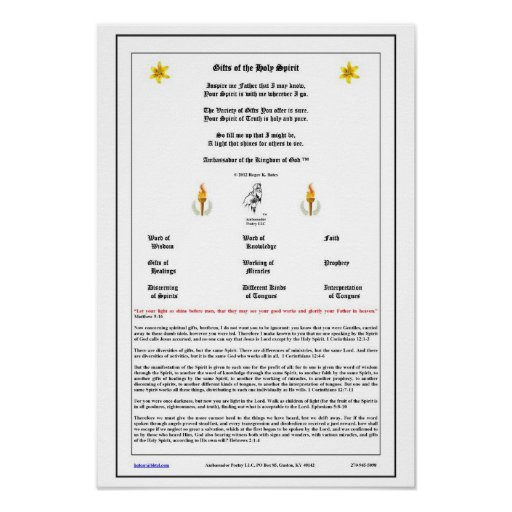 Gifts of the Holy Spirit Poster