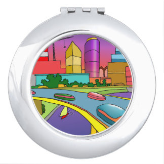#giftunder$30 round compact mirror by DAL