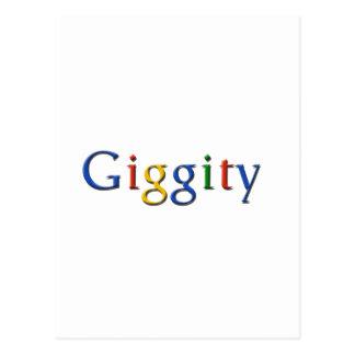 Giggity - style postcard