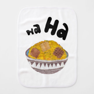 Giggle Flakes No Background Burp Cloth