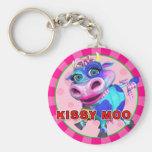"""""""GiggleBellies"""" Kissy Moo the Cow Keychain"""