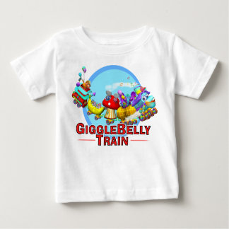 GiggleBellies The GiggleBellie Train Baby T-Shirt