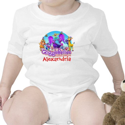 """""""GiggleBellies"""" + Your Child's Name T Shirt"""