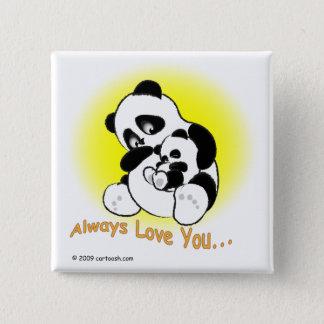 gigglePanda for Mother's Day 15 Cm Square Badge