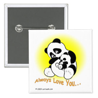 gigglePanda for Mother's Day 15 Cm Square Badge