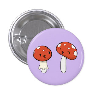 Giggling Mushrooms 3 Cm Round Badge