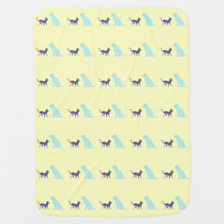 Gigham Dog And Calico Cat Baby Blankets