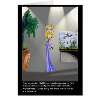Gigi Delani - Blank Greeting Card