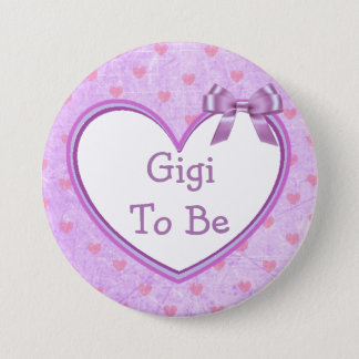 Gigi to be Purple Baby Shower Button