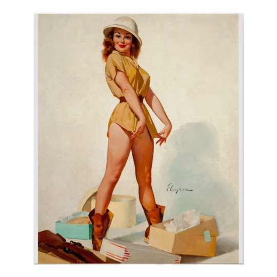 GIL ELVGREN Fit to Kill Pin Up Art
