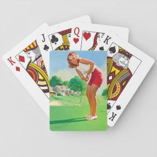 GIL ELVGREN Golfer Pin Up Art Playing Cards