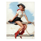GIL ELVGREN Hi-Ho Pin Up Art Postcard