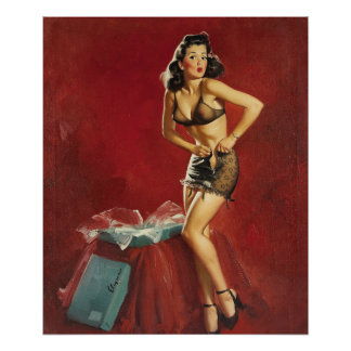 GIL ELVGREN I Must Be Going To Waist Pin Up Art Poster