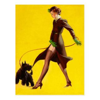 GIL ELVGREN Man's Best Friend Pin Up Art Postcard