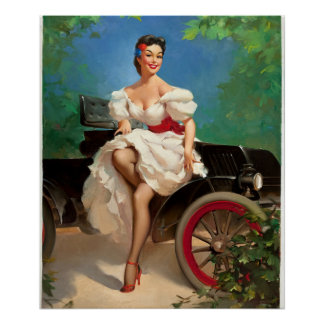 GIL ELVGREN Miss Sylvania 2 Pin Up Art Poster