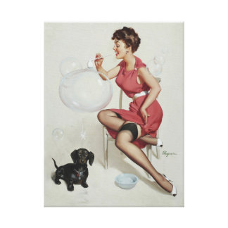 GIL ELVGREN Neat Trick, 1953 Pin Up Art Canvas Print