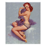 GIL ELVGREN Roxanne, 1960 Pin Up Art Poster