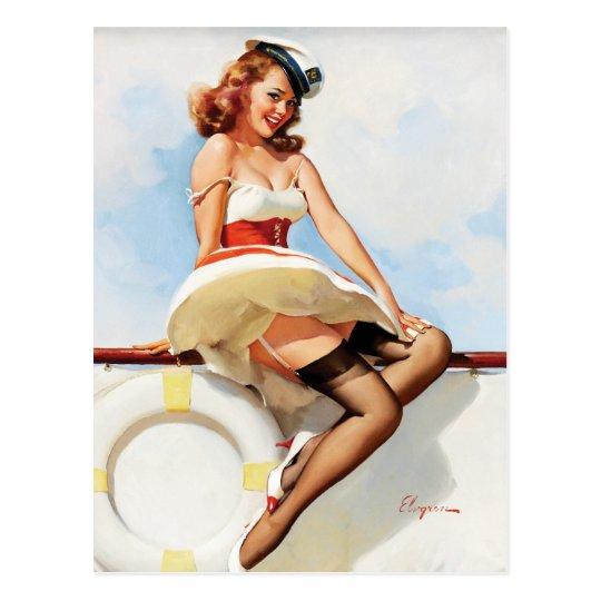 GIL ELVGREN Sailor Girl, 1970s Pin Up Art