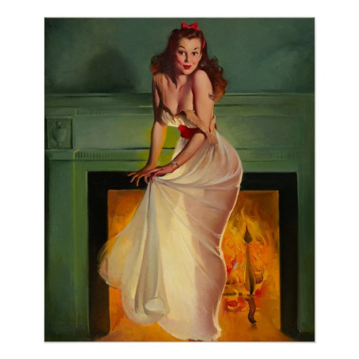 GIL ELVGREN Sheer Delight Pin Up Art Poster