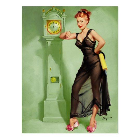 GIL ELVGREN The Honeymoon's Over Pin Up Art Postcard