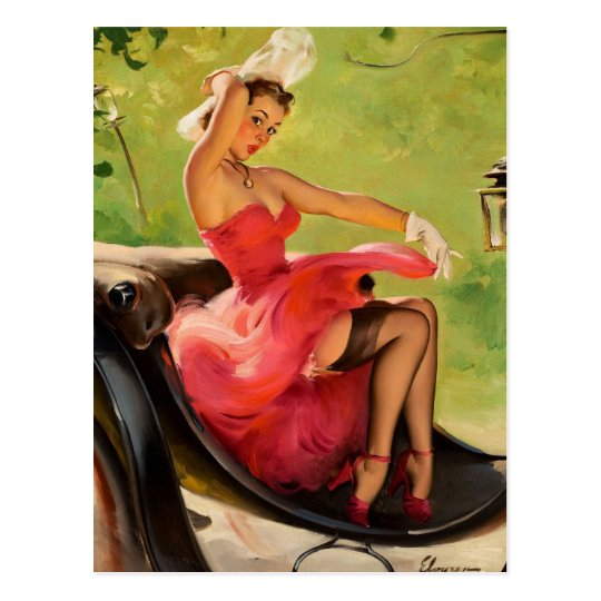GIL ELVGREN Up in Central Park Pin Up