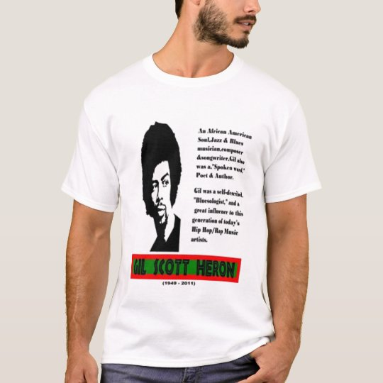 Gil Scott Heron Rememberence Tee Shirt