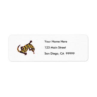 Gila Monster Return Address Label