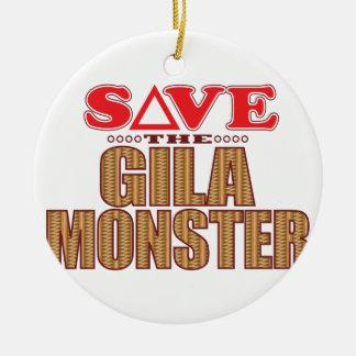 Gila Monster Save Christmas Ornament