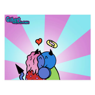 Gilbert and the Grim Rabbit - Hug Postcard