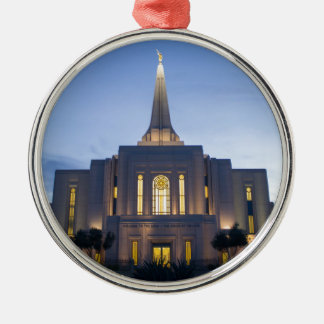 GIlbert Arizona LDS Temple Silver-Colored Round Decoration