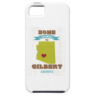Gilbert, Arizona Map – Home Is Where The Heart Is iPhone 5 Cover