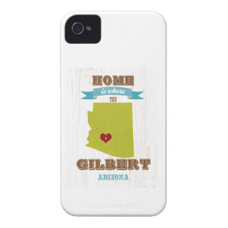 Gilbert, Arizona Map – Home Is Where The Heart Is iPhone 4 Case-Mate Cases