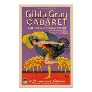 Gilda Gray Cabaret Vintage Poster