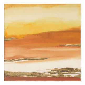 Gilded Amber I v2 Abstract Print Acrylic Print