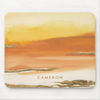 Gilded Amber I v2 Abstract Print Mouse Mat