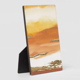 Gilded Amber I v2 Abstract Print Photo Plaque
