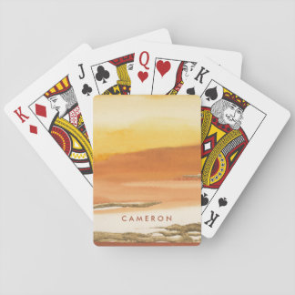 Gilded Amber I v2 Abstract Print Playing Cards