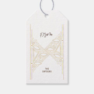 Gilded Art Deco Gift Tags - Gold