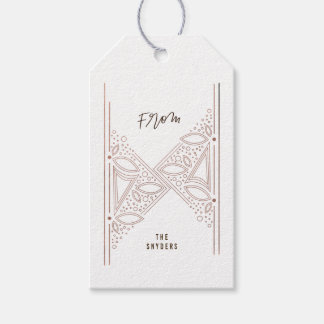Gilded Art Deco Gift Tags - Rose Gold