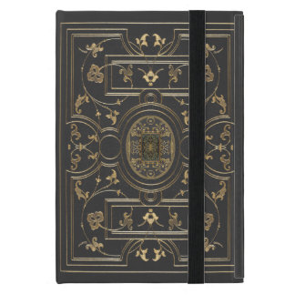 Gilded Botanical Design Over Vintage Charcoal Covers For iPad Mini