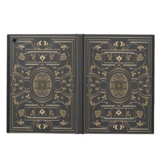 Gilded Botanical Design Over Vintage Charcoal Powis iPad Air 2 Case