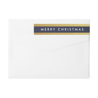 Gilded Christmas Custom Wraparound Labels Wraparound Return Address Label