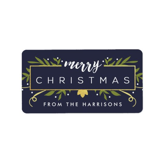 Gilded Christmas Personalised Gift Tags Address Label