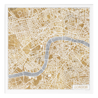 Gilded City Map Of London Acrylic Print