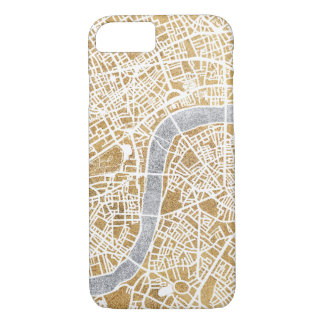 Gilded City Map Of London iPhone 8/7 Case