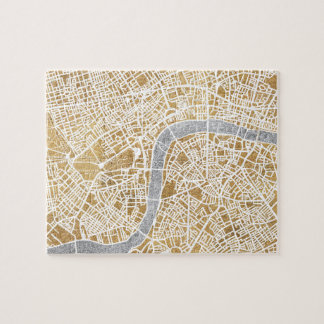 Gilded City Map Of London Jigsaw Puzzle