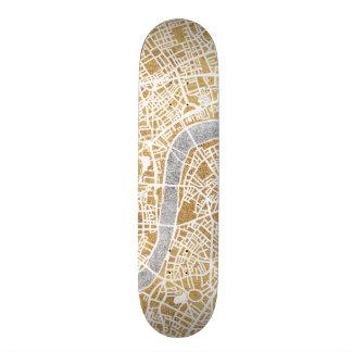 Gilded City Map Of London Skate Decks